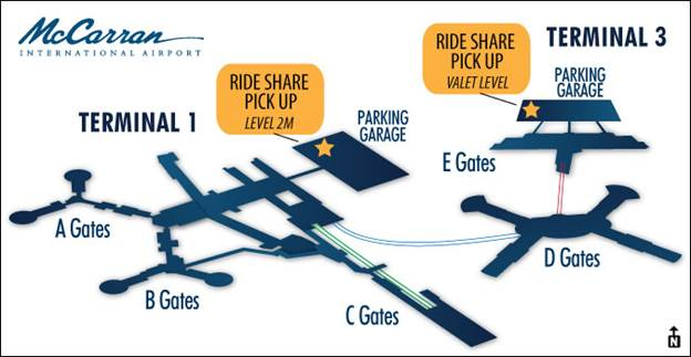 uber taxi map airport